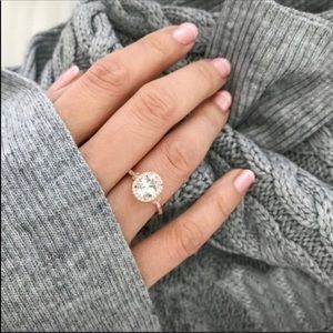 Stunning Oval Engagement Style Ring